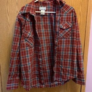 Size L wrangler red and blue flannel